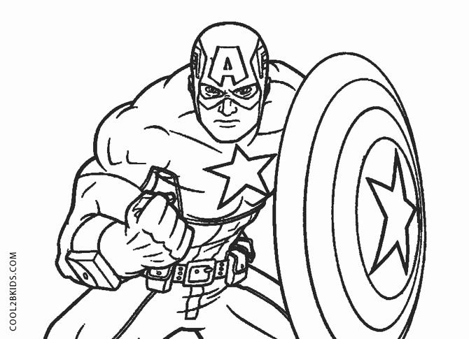 28 Captain America Coloring Page In 2020 Captain America