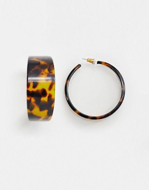 395a74463b8bb DESIGN hoop earrings in tortoiseshell   best of ASOS   ASOS ...