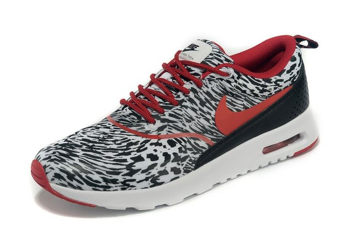 Nike Air Max Thea Print Snow Leopard Black/White/Wine 599409-016 Men/Women running shoes