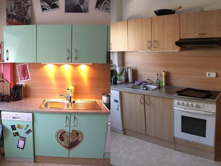 küchenfronten bekleben vorher nachher Vorher Nachher