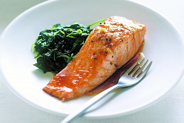 Making a tasty meal with just a few ingredients is easier than you think - the proof is in our baked salmon with a side of wilted spinach.