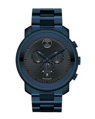 44mm Bold Chronograph Watch, Blue by Movado at Neiman Marcus.