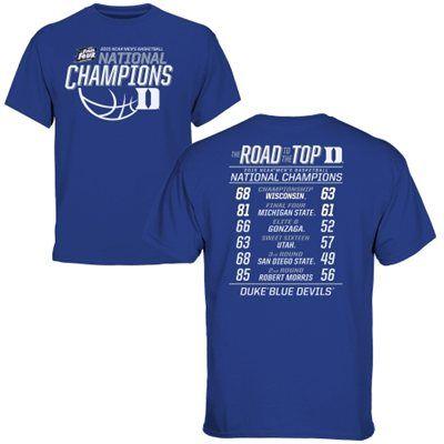Duke Blue Devils Youth 2015 NCAA Men's Basketball National Champions All Score T-Shirt - Duke Blue