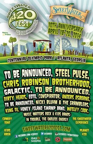 Partial Sweetwater 420 Fest line-up announced : bizjournals