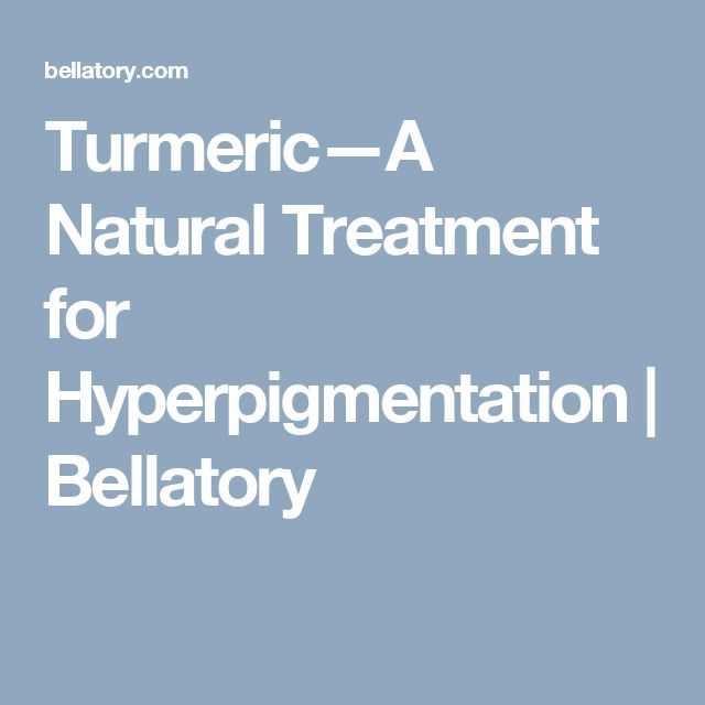 Turmeric—A Natural Treatment for Hyperpigmentation | Bellatory