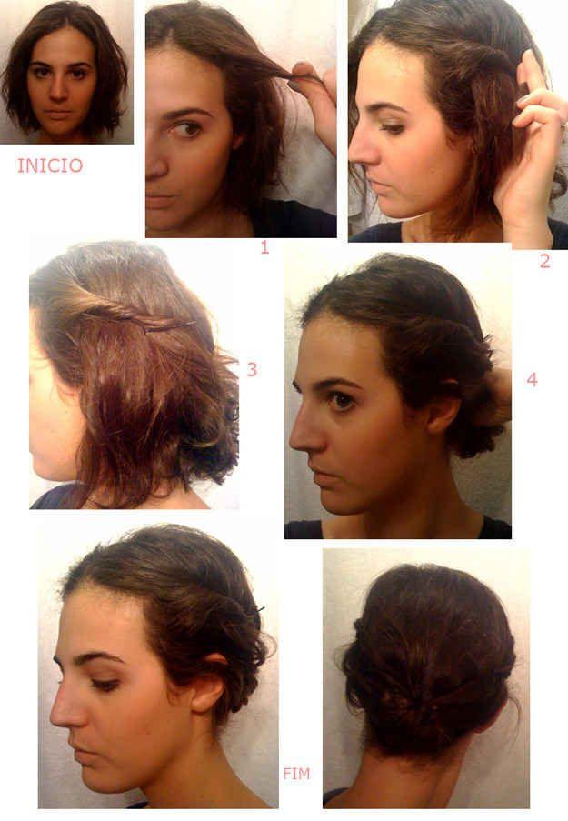 Torcidinho lateral + coque funcionam em qualquer comprimento de cabelo!