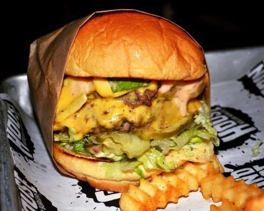 Specializing in Southern hospitality and house-ground burgers, this Atlanta spot has junior burgers ... - grindhousekillerburgers/facebook.com