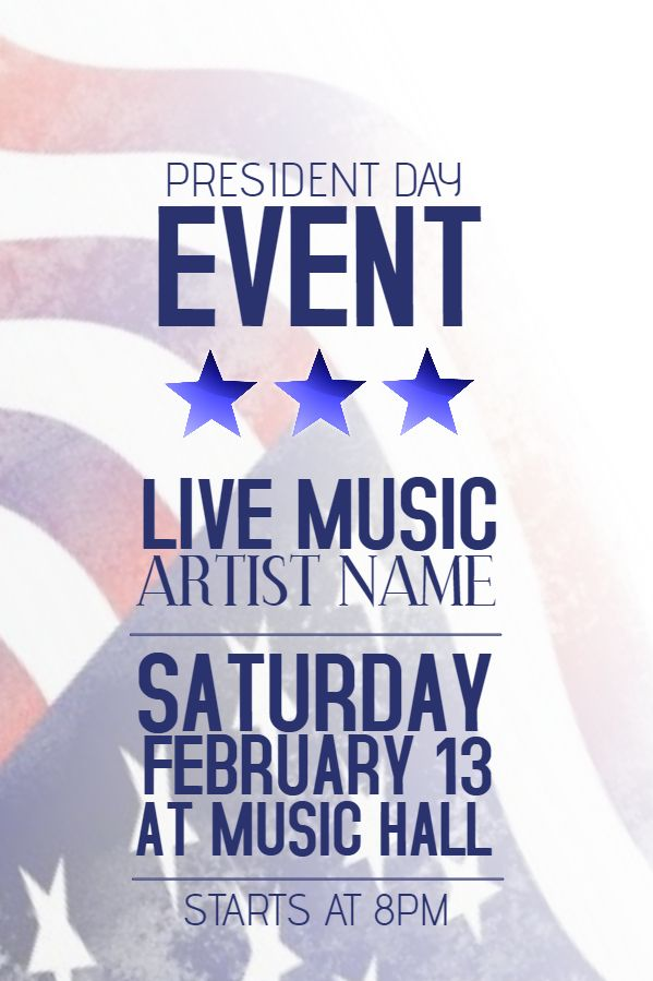 16 best Presidentu0027s Day Poster Templates images on Pinterest - for sale poster template