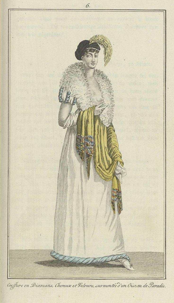 Elegantia, of tijdschrift van mode, luxe en smaak voor dames, Maart 1807, No. 6: Coeffure en Diamans..., Anonymous, Evert Maaskamp, 1807
