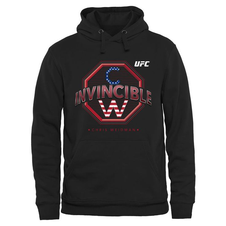 Chris Weidman UFC 187 Invincible Pullover Hoodie - Black