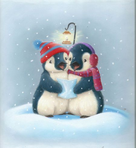 Tina Macnaughton - WH Smiths Xmas Card Penguins 26b.jpg