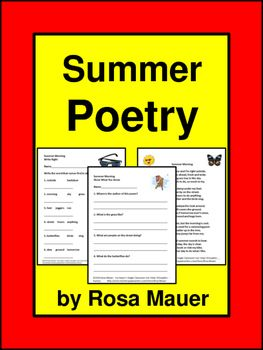 You will receive an originally written one-page poem about summer with nine corresponding comprehension questions. There is an activity in which students are to write the three words from each row in alphabetical order. There are 14 alphabetical items for practice.