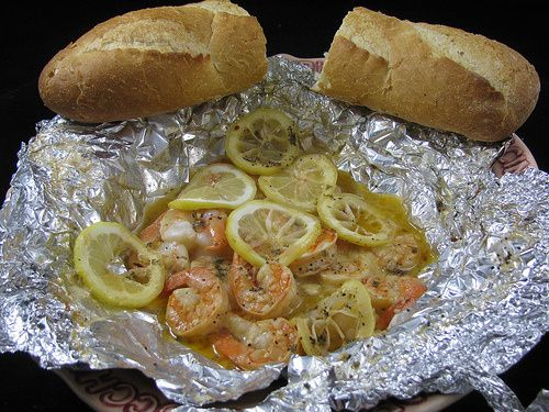 A great Cajun-style hot-and-spicy shrimp recipe in a foil packet that can be done in the oven, on the bbq, or even on a campfire. Be sur to have french bread on hand for dipping!