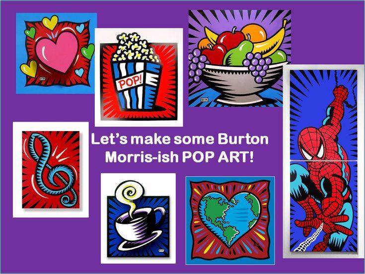 Art Julz: 4th Grade Pop Art - Burton Morris Style