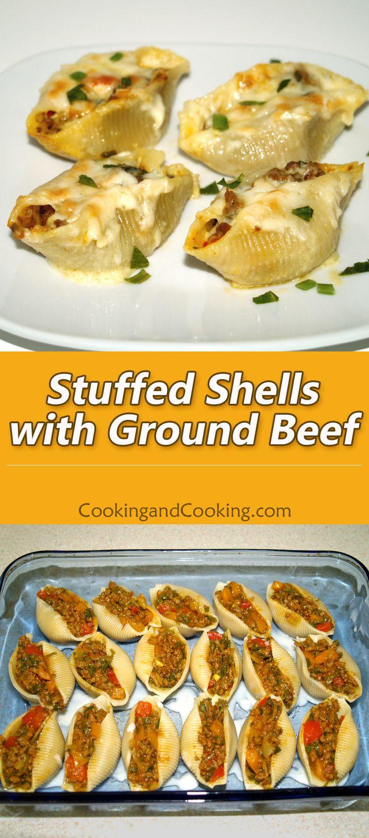 Stuffed Shells with Ground Beef Recipe