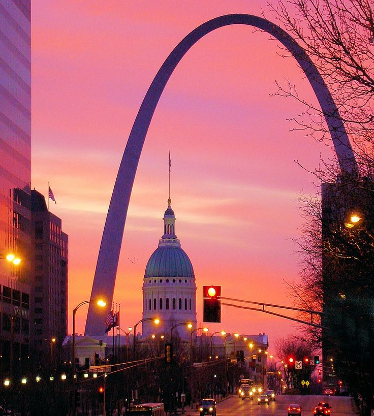 "St. Louis, where I spent most of my life! We have the arch overlooking the ""Mighty Mississippi""!"