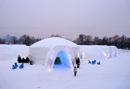 Hotel de Glace in the Montreal Snow Village, Canada