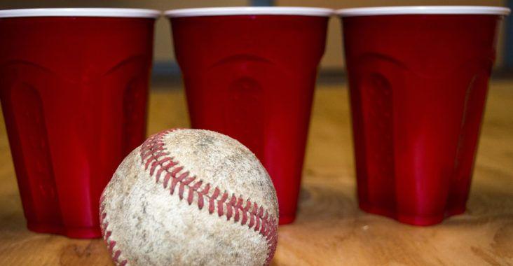 Beer baseball drinking game