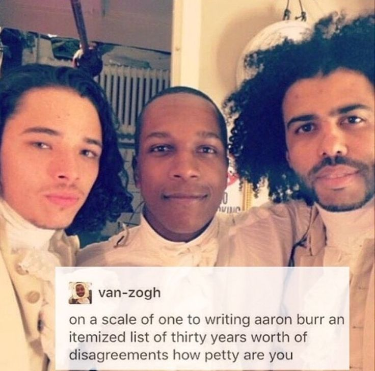 Writing Aaron Burr an itemised list of thirty years of disagreements for sure