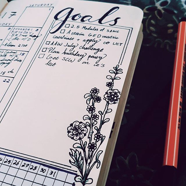 July's flower is larkspur, so I incorporated it into this month's spread! #shecraftswords