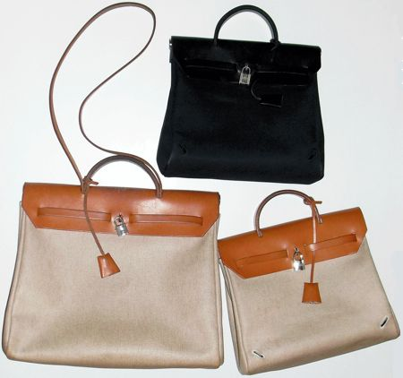 Part of my uniform: vintage Hermes Herbags, with swappable parts ...