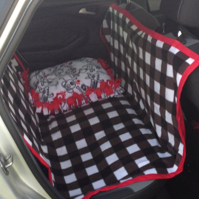 Car Seat Cover for my furry family members. I also made a dog bed to go with it. I followed the tutorial at ex-scapes.com.