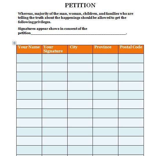 7 best petition Template images on Pinterest A letter, Sample
