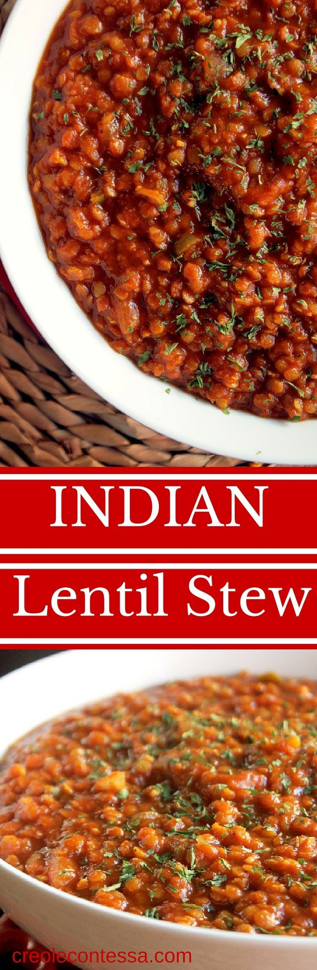 I'm super excited about today's Slow Cooker meal! Being a certified Indian Food Addict I am so happy to share one of my favorite Indian recipes! Slow Cooker Indian Lentil Stew or Dal as it's called at