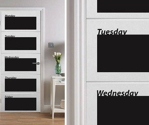 daily planner on the door good idea