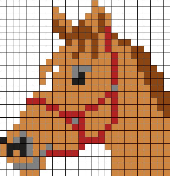 Horse_Head by Ninie on Kandi Patterns