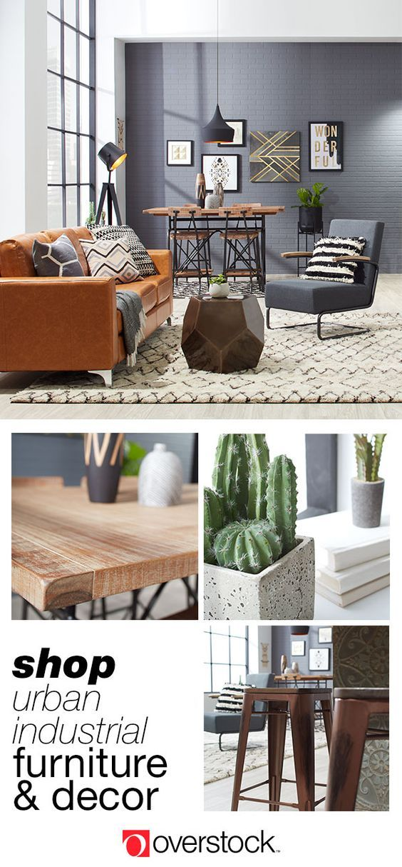 Find Everything You Need To Give Your Living Room An Urban Industrial Decor  Refresh At Overstock