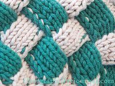 Разные источники называют эту технику по-разному: плетенка, плетеный узор, плетеная корзина, интарсия, интарсио, энтерлак, энтрелак, частичное вязание и даже…