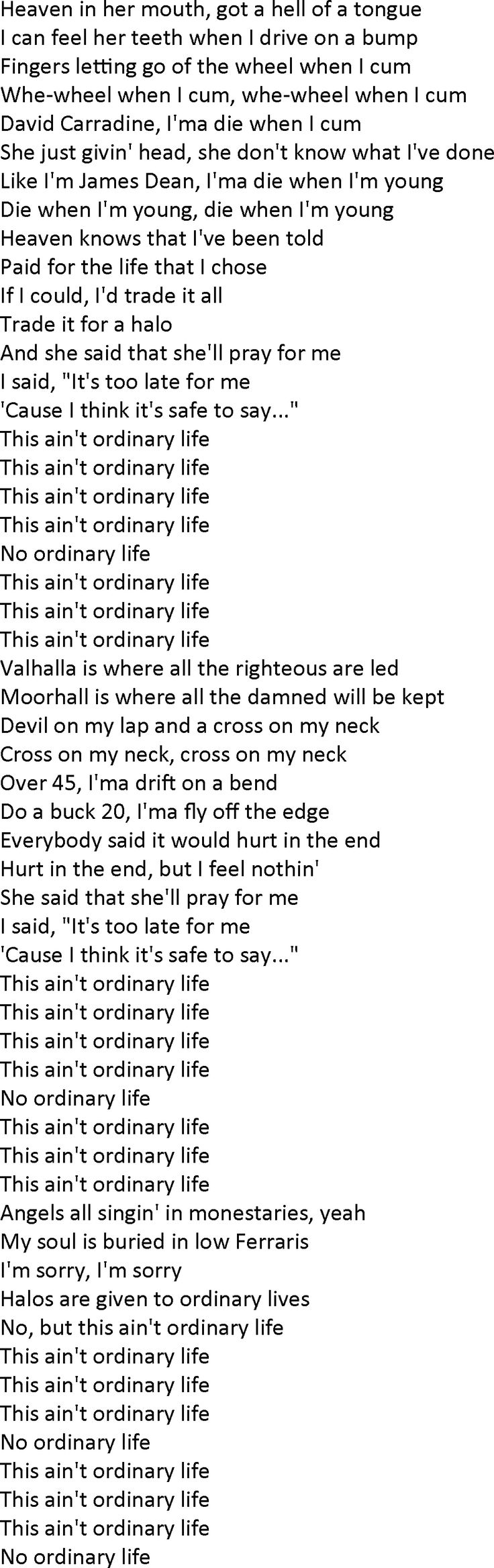 Ordinary Life, a song by The Weeknd