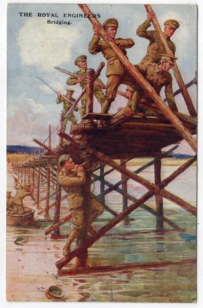 WW1 ROYAL ENGINEERS Bridging G&P Military Postcard in Collectables, Postcards, Military | eBay