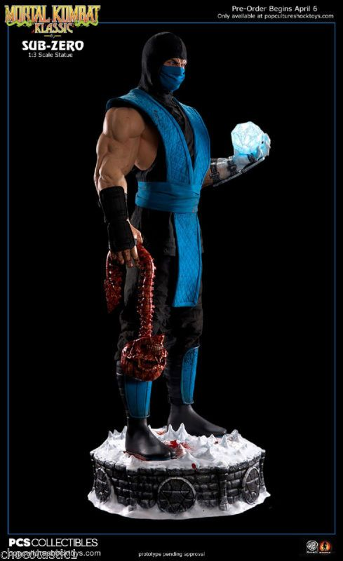 Pop Culture Shock Exclusive1/3 SUB ZERO Mortal Kombat Klassic Statue FULL Paid