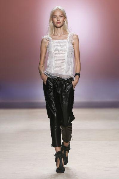 Isabel Marant BEATRIX lace-up leather trousers