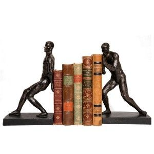 Strikingly Idea Bird Bookends. Bronze Strong Men Bookend  This unusual duo of bookends features silver 7 best Novelty Bookends Books images on Pinterest Book holders