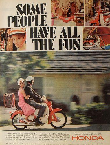 1966 HONDA motorcycle advertisement.