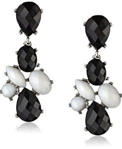 6-Opaque-Stone-Statement-Posted-Shiny-Gold-Multi-Earrings-0
