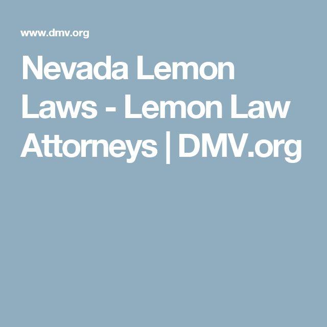 Nevada Lemon Laws - Lemon Law Attorneys   DMV.org