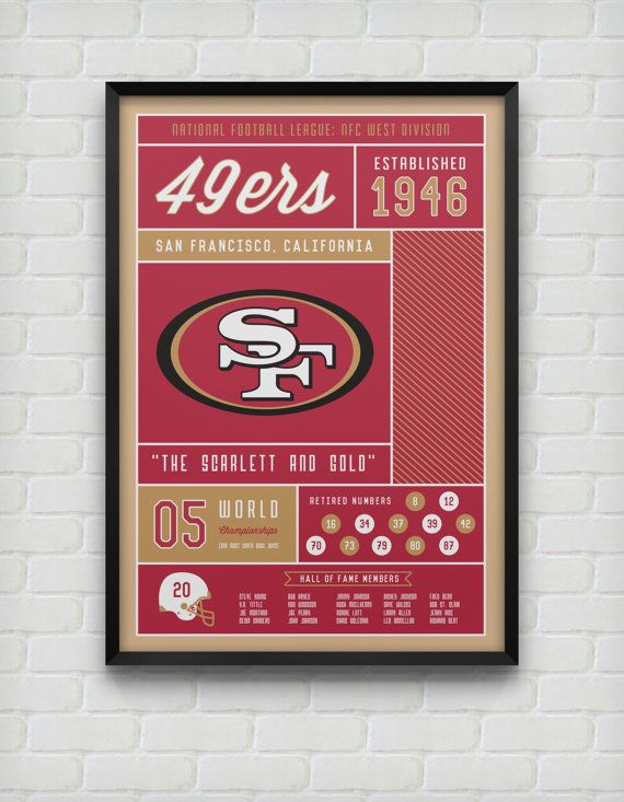 San Francisco 49ers Stats Print by DesignsByEJB on Etsy, $18.00
