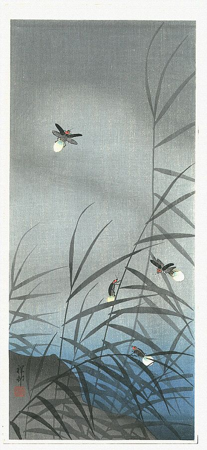 Ohara Koson: Fireflies -1936