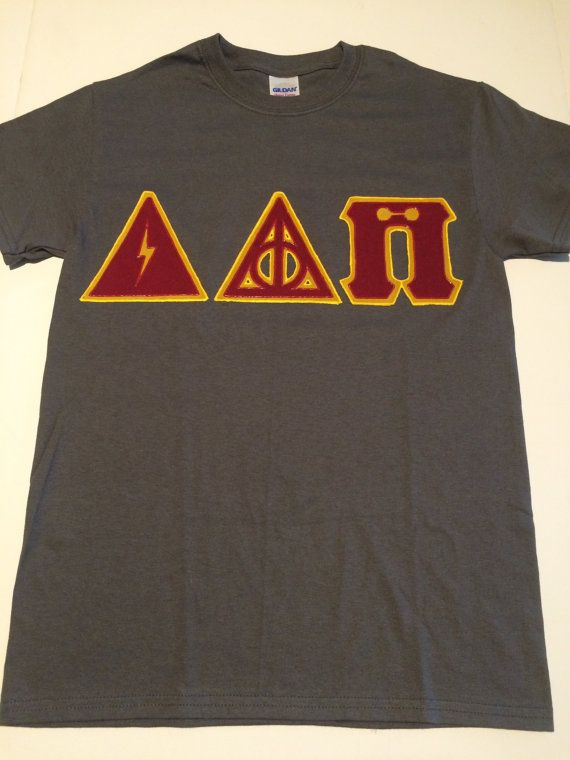 CUSTOM Greek Letter Shirt Harry Potter Delta by CraftMeSomeofThat