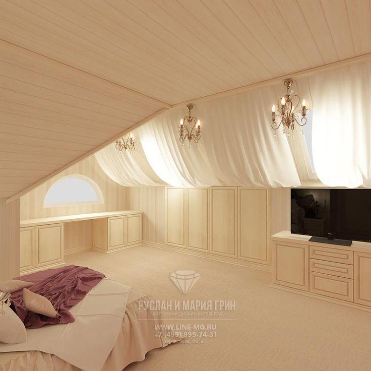 Дизайн детской комнаты для девочки в мансарде дома  http://www.line-mg.ru/dizayn-detskoy-komnaty-dlya-devochki-foto