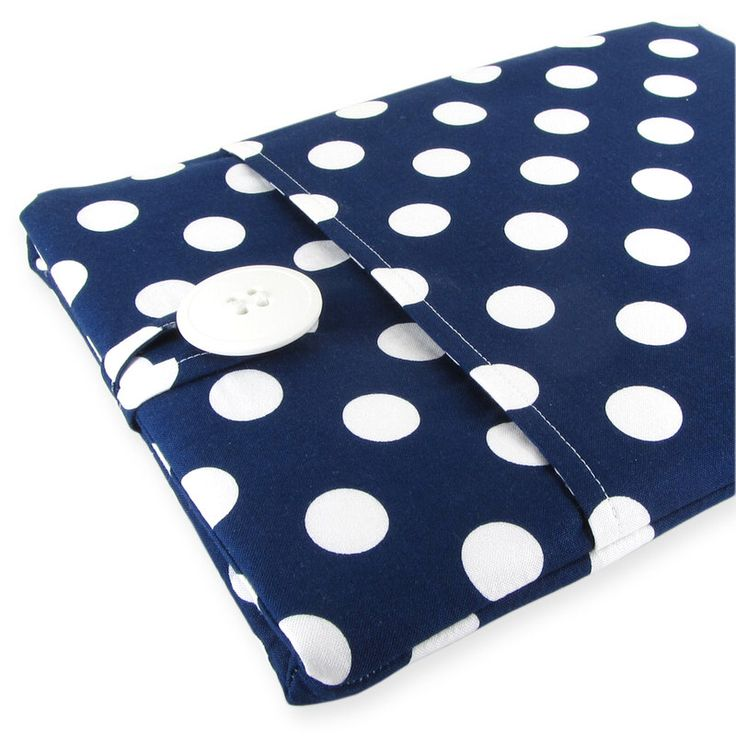 Laptop Sleeve, Computer case, Laptop Case, Macbook Pro Case, Macbook Air Case, 11 Inch Laptop Sleeve, 13 Inch Laptop Sleeve, Navy Polka Dots by FiveSproutsStitching on Etsy https://www.etsy.com/listing/233794638/laptop-sleeve-computer-case-laptop-case