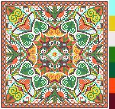 πλατεία γεωμετρικό μοτίβο για Σταυρός ουκρανική παραδοσιακά κεντήματα βελονιά, που όπως χειροποίητα και δημιουργία, pixel καλλωπιστικών διανυσματικά εικονογράφηση — Αρχείο Εικονογραφήσεων #66305165
