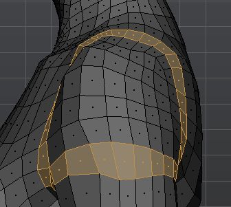 Shoulder topology side
