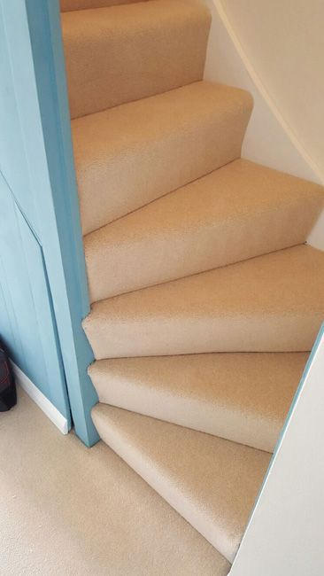 Client: Private Residence In East London Brief: To supply & install beige carpet to stairs