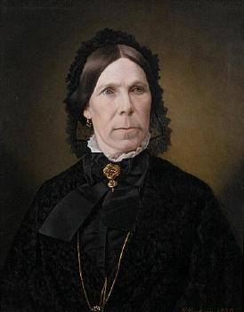 Mrs Sarah Rutherford, oil on canvas painting, by G Lindauer. (1876) Auckland Art Gallery.