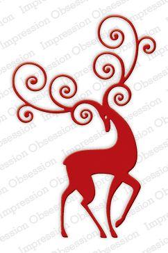 Reindeer Flourish Code: DIE336-V: